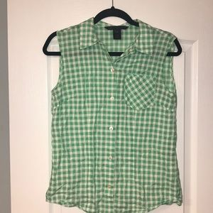 Marc by Marc Jacobs Checkered Button-down Tank